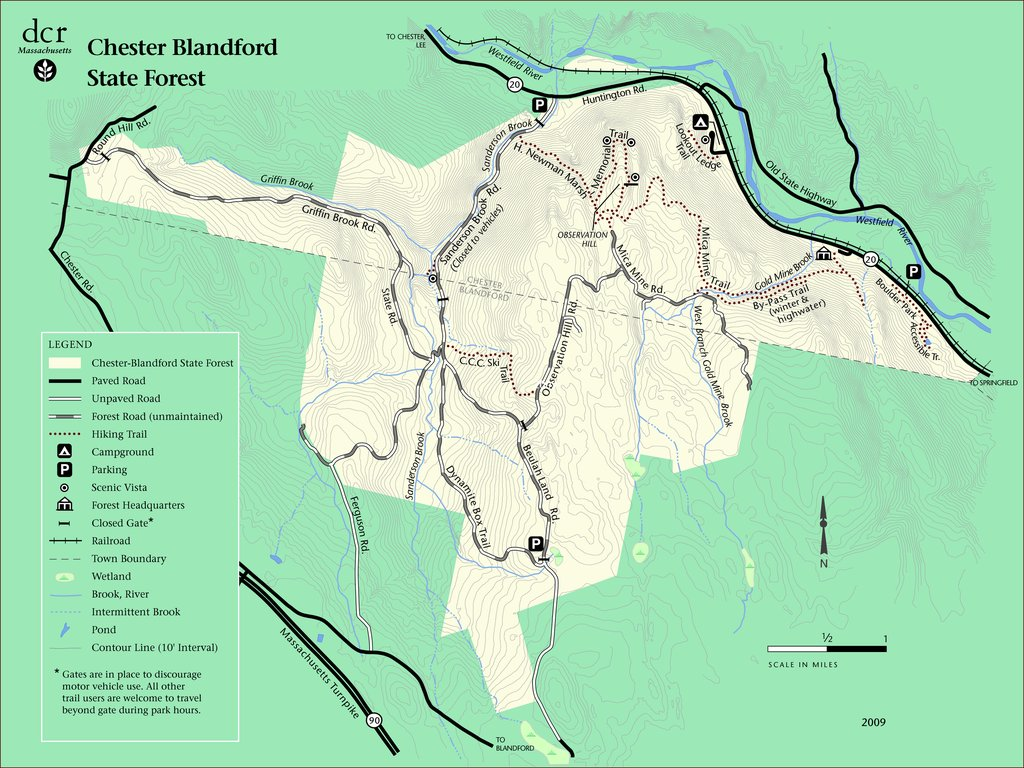 chester blandford forest map