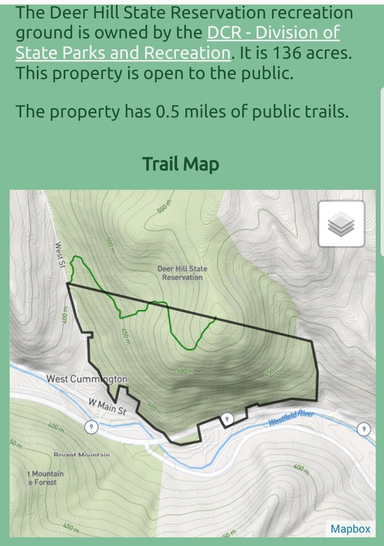 Deer Hill State Reservation:  Peru