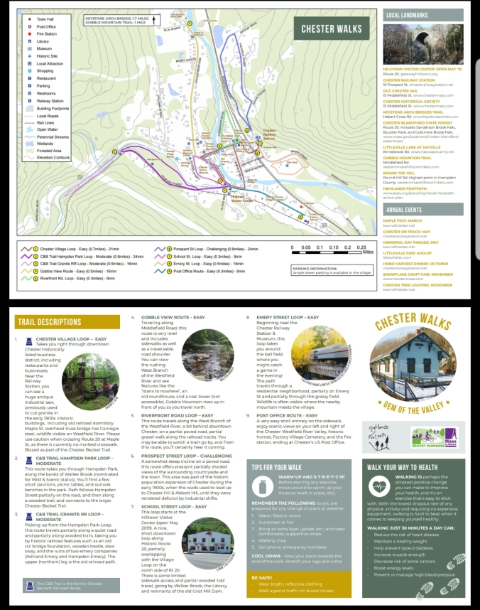 Chester Walking Map