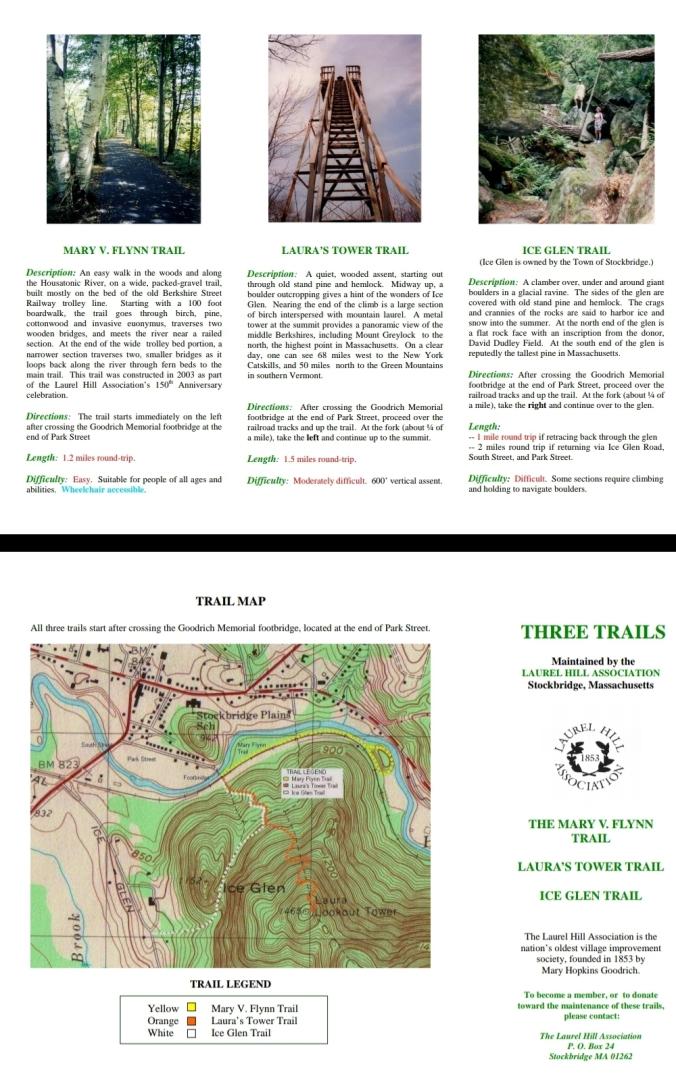 Stockbridge Lauras Tower - Ice Glenn - Mary Flynn with brochure